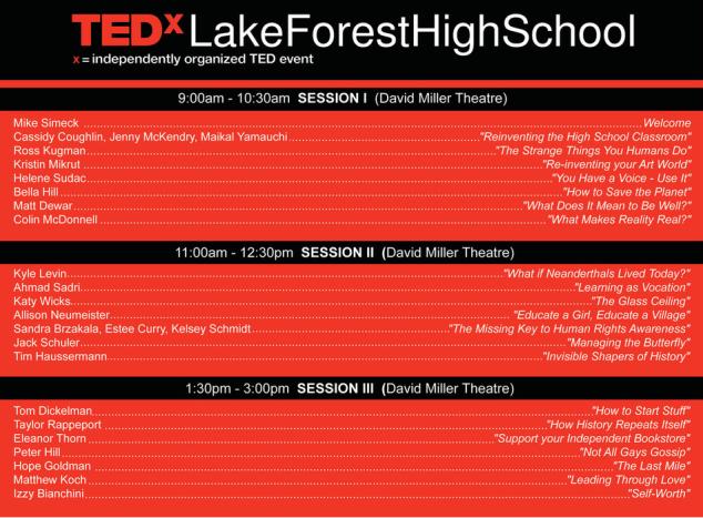 tedx schedule 2015