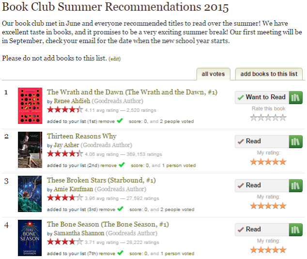 goodreads summer booklist