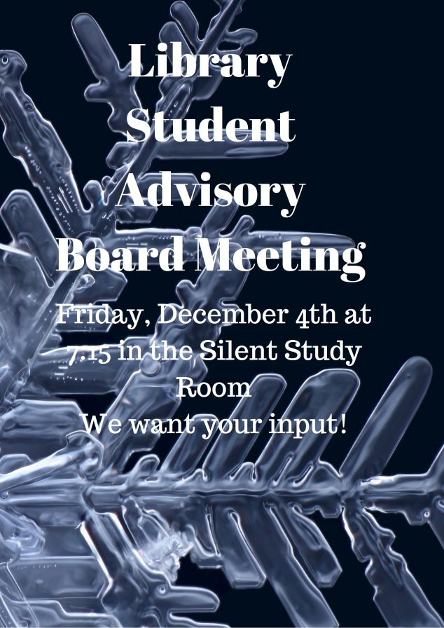 Library Student Advisory Board Meeting