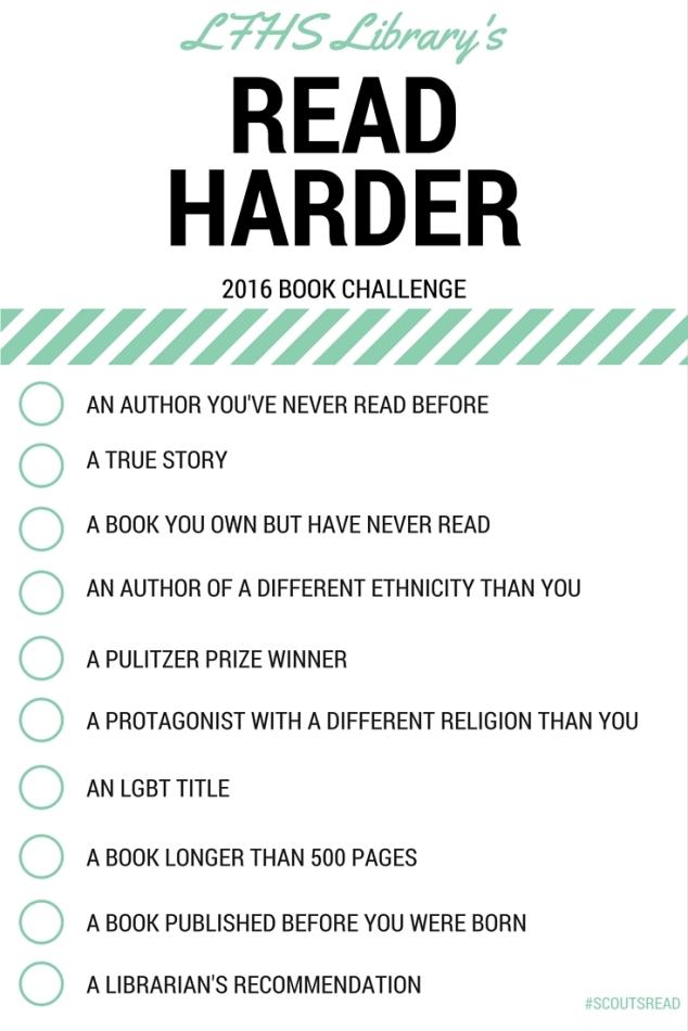 READ HARDER 2016